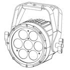 LED Par Fixture with 7x12W RGBAW+UV LEDs