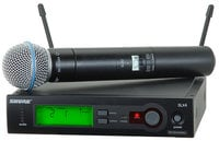 Shure SLX24/BETA58-RST-01 Wireless Single Channel Handheld Microphone System