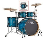"""Crush Chameleon Ash 5-Piece Shell Pack with Free 8"""" Tom - Trans Satin Blue"""