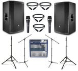 "JBL PRX815W-DUAL-4-K  JBL Active 15"" Speaker Bundle with Mixer, Microphone, Stands, and Cables"