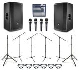 "JBL PRX815W-DUAL-5-K  JBL Active 15"" Speaker Bundle with Microphones, Stands, and Cables"