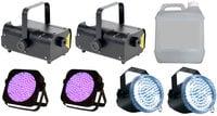 Full Compass FOG-UV-STROBE-X2-K  UV Par, Strobe and Fogger Package