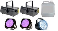 Full Compass FOG-UV-X2-STROBE-K  UV Par, Strobe and Fogger Package