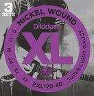 D`Addario EXL120-3D 3 Pack of Super Light XL Electric Guitar Strings