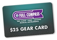 Full Compass GEAR-CARD-25, Lifestyle
