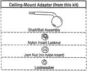 JBL MTC23CM-WHITE Ceiling Mount Adapter for Control-23