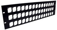 Ace Backstage RPL345 Aluminum Rack Panel, 3 RU, Black, Mounts 45 Connectrix Connectors