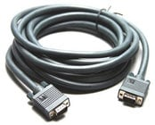 15-Pin Male HD to 15-Pin Male HD (VGA) Cable, 10 Feet