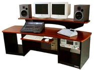 Workstation with Mahogony Surface