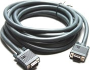 Molded Male to Female VGA Cable, 3ft.