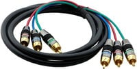 Kramer C-R3VM/R3VM-3 3-RCA Male to Male (3 ft., 28 AWG Mini Coax) C-R3VM/R3VM-3