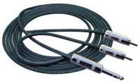 "3 ft. Cable - 1/8"" TRS Male to Two 1/4"" TS Males"
