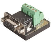 TecNec HD15F-TBCM Female HD15 To Screw Terminals