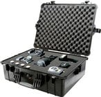Pelican Cases PC1604-BLACK Large Black 1600 Case with Padded Dividers