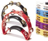 Tambourine with Brass Jingles (Black)