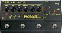 Tech 21 BSDR-DLX SansAmp Bass Driver Deluxe Bass Preamplifier with 6 Presets