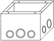 Mystery Electronics BBTC1  TC10 Series Floor-Mount Back Box