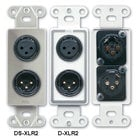 RDL DXLR2 Wall Plate with 1 Male & 1 Female XLR
