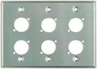 "Plateworks Triple-Gang Stainless Steel Wall Plate with 6x ""D-Series"" Punch Outs"