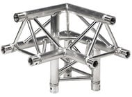 Global Truss TR-4093-U/R 1.64 ft. 3-Way 90° Corner Junction with Apex Up Right