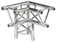 Global Truss TR-4093-D/L 1.64 ft 3-Way 90° Corner Junction with Apex Down TR4093D-L