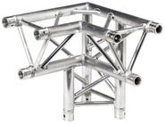 Global Truss TR-4093-D/R 1.64 ft. 3 -Way 90° Corner Junction with Apex Down