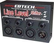 Ebtech LLS2XLR Line Level Shifter, 2 Channel with XLR Jacks LLS2XLR