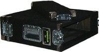 Grundorf AR3DR-BLACK 3 RU Space Amp Rack (with Recessed Hardware, Black)
