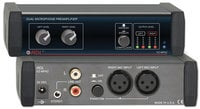 RDL EZ-MPA2 Dual Mic Preamp with Compressors, Stereo out