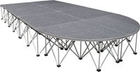 "16"" H, 12'x6' Carpeted Catwalk with Round Edge"
