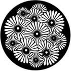 Sunburst Flowers Steel Gobo