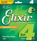 Elixir Strings 14002 Super Light Long Scale Electric Bass Strings with NANOWEB Coating 14002