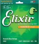 Elixir Strings 14502 Light Long-Scale Acoustic Bass Guitar Strings with NANOWEB Coating