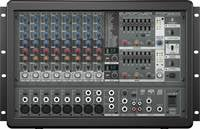 Powered Mixer, 10 Channel (8 mic inputs), 2 x 800W Stereo
