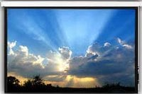 """117"""" x 156"""" Magnifica Series Matte White Motorized Video Projection Screen (4:3, 200"""")"""