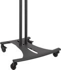 "Ellipitcal Floor Cart for Flatscreen TVs (Black, with 72"" Poles)"