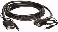 Cable VGA Male/Male With Stereo Mini Jacks, 100FT