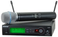 Wireless Microphone System with SLX2/BETA87A Microphone/Transmitter (Shown with SM58 Cartridge)