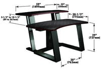 "Winsted E4605 Digital Desk & Riser 59""Wx30""D"