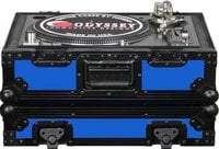 Odyssey FR1200BKBLUE  DJ CD Player/Turntable Case (Blue with Black Hardware)