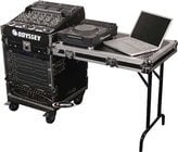 Odyssey FZ1112WDLX Pro Rack Case with Wheels and Table, 11 Unit Top Rack, 12 Unit Bottom Rack