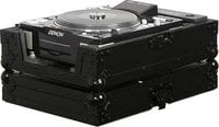 Odyssey FZCDJ-BL  Black Label ATA Flight Case for Large Format CD Turntable/Player for DJs (with All-Black Hardware)