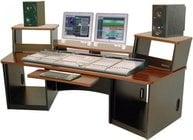Omnirax FRC36SC Audio/Video Workstation Desk (with Storm Cirrus Finish, 36 RU Total) FRC36SC