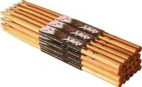 12 Pack of 5B Nylon Tip American Hickory Drumsticks