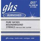 GHS BNR-M Medium Burnished Nickel Electric Guitar Strings