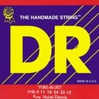 DR Strings PHR9 Light Pure Blues Electric Guitar Strings PHR9