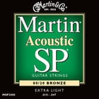 Martin MSP3000 Extra Light Martin SP 80/20 Acoustic Guitar Strings