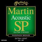 Extra Light Martin SP Phosphor Bronze Acoustic Guitar Strings
