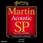 Martin Strings MSP4100 Light Martin SP Phosphor Bronze Acoustic Guitar Strings MSP4100