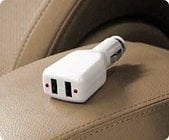 RadTech AUTO-POWER  In-Vehicle Dual USB iPod & iPhone Car Charger, 5v, 500mA output